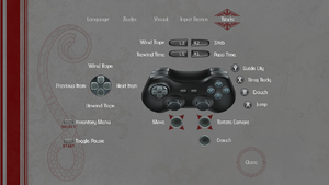 In-game controller buttons.