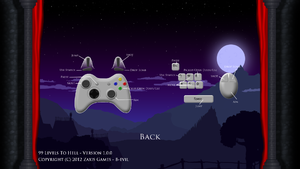The default control scheme for the game.