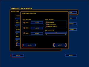 In-game speech settings.