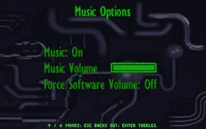 Music settings.