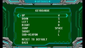 Keyboard mapping menu.
