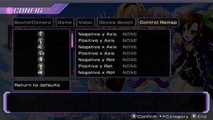 Controller rebind settings.