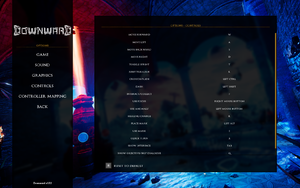 In-game key remapping menu