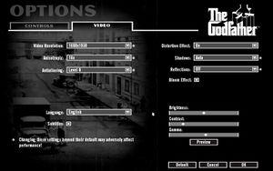 In-Game Graphics Options Menu at Highest settings