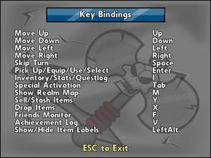 Key rebinding.