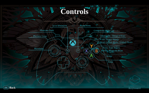 In-game controller layout overview.