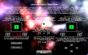In-game gamepad settings (for Bullet Candy Perfect).