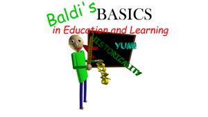 Baldi's Basics in Education & Learning - PCGamingWiki PCGW - bugs