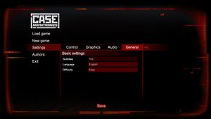 In-game Language and Subtitles Settings