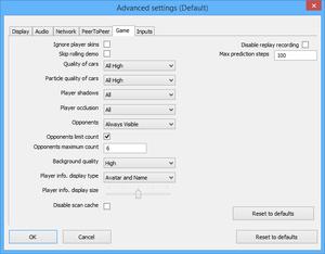Launcher advanced settings.