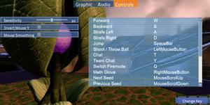 Control settings
