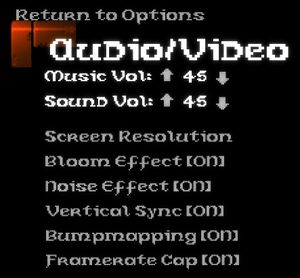 Audio and Video settings.