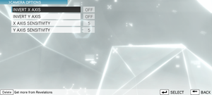 In-game camera settings (multiplayer).