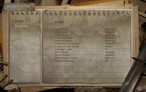 Condemned's detail settings menu.