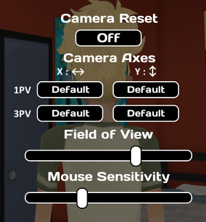 General settings from pause menu.