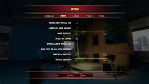 In-game mouse and controller settings.