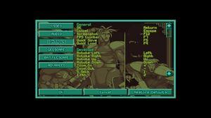 OpenXcom in-game input settings.