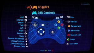 Default controller settings.