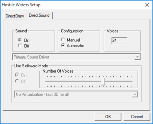 Audio settings (launcher).