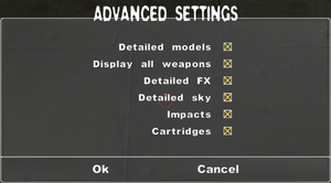Advanced settings.