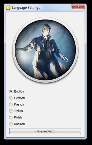 External language settings (GOG.com version).