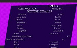 Keyboard settings.