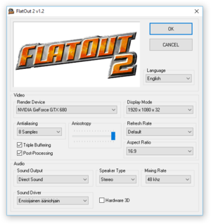 FlatOut 2 - PCGamingWiki PCGW - bugs, fixes, crashes, mods