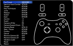 Controller settings and rebinding.