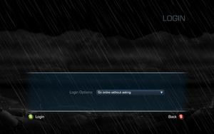 Login settings.