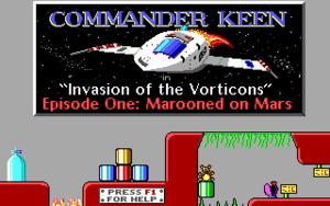 Commander Keen in Marooned on Mars cover