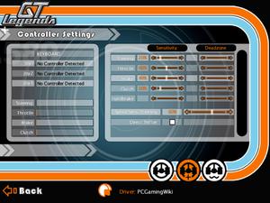 Advanced input settings.