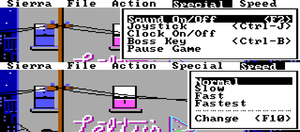 General options (original EGA release)