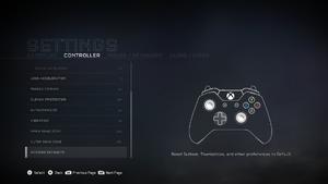 In-game gamepad settings (2/2).