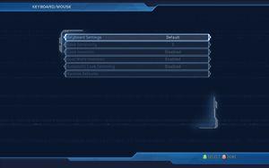 In-game general keyboard settings.