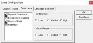 Detail Level Configuration