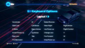 Keyboard layout.