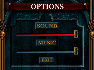 Audio options.