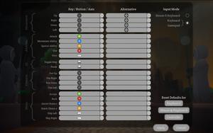 Gamepad control defaults.