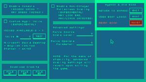 Advanced settings (listed in-game as BIOS/BIOS settings).