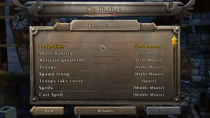 Key rebinding menu.