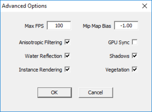 External advanced settings.