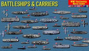 Battleships and Carriers - WW2 Battleship Game cover
