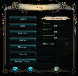In-game input settings.