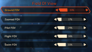 Field of View settings