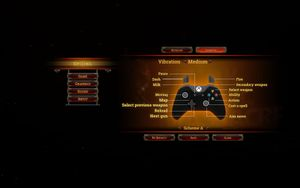 In-game controller controls.