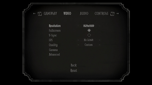 In-game basic video settings