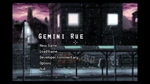 """Gemini Rue at resolution 3840x2160 with """"max round multiplier"""" scaling and """"nearest-neighbour"""" filter. Main area is 3200x2000 as closest available multiple of 320x200."""