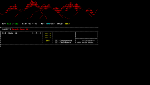 Windowed example showing everything beyond the playable area to be black
