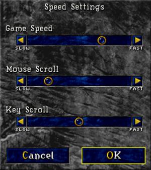 In-game input settings menu.