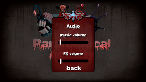 Audio settings within the game.